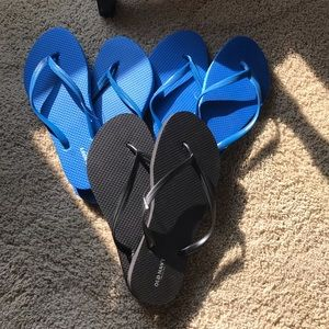 Flip Flops - set of three pairs of size 7 Old Navy